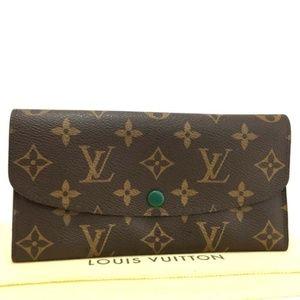 Louis Vuitton Monogram Emily Long Bifold Wallet